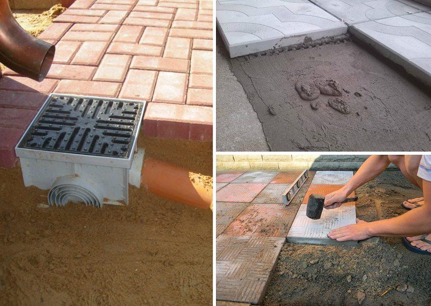 Укладка тротуарной плитки на даче (34 фото): устройство и ... | 603x850